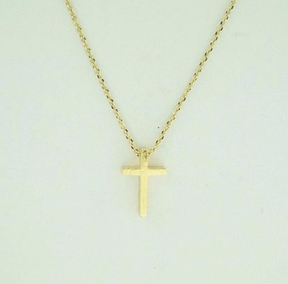 Brushed Cross Necklace, $10 | Gold, Silver, Rose Gold | Light Years