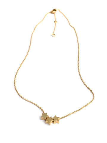 Three Gold Stars Necklace
