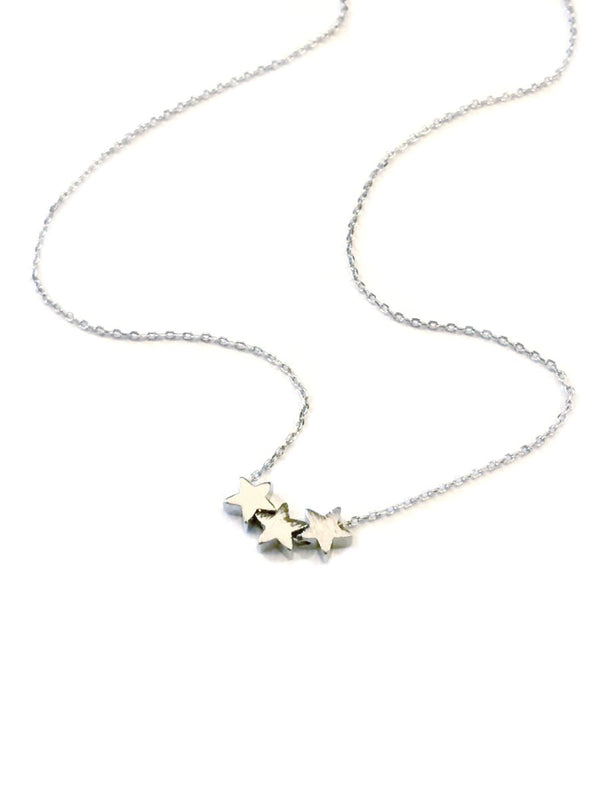Three Little Stars Necklace | Gold Silver Plated Choker | Light Years