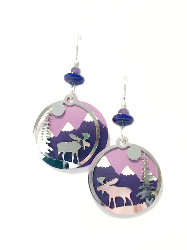 Moose in the Woods Earrings by Adajio | Sterling Silver | Light Years
