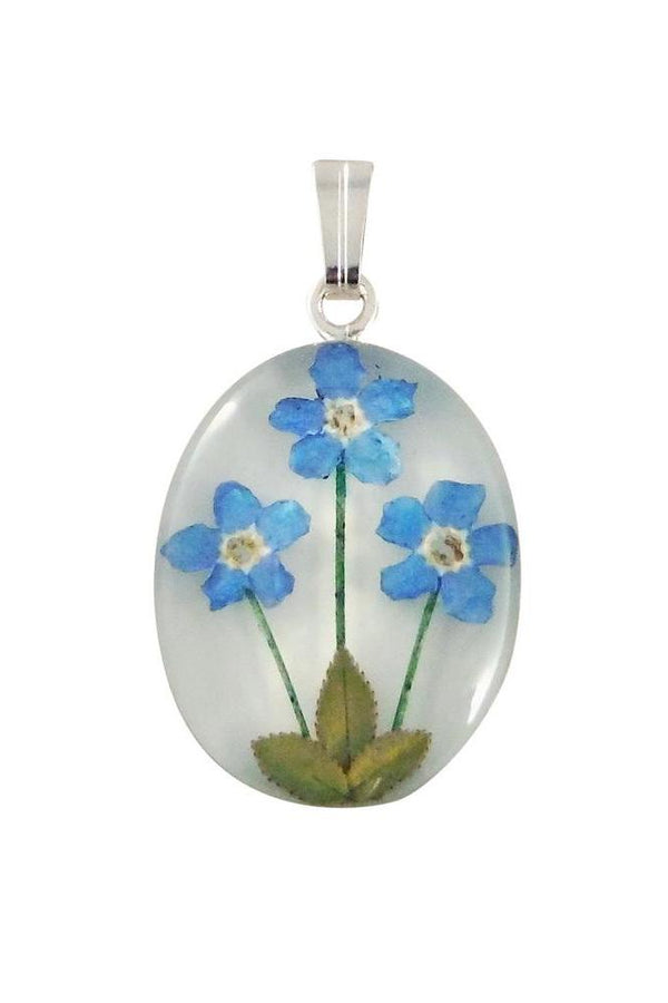 Forget Me Not Necklace | Genuine Miniature Flowers | Light Years Jewelry