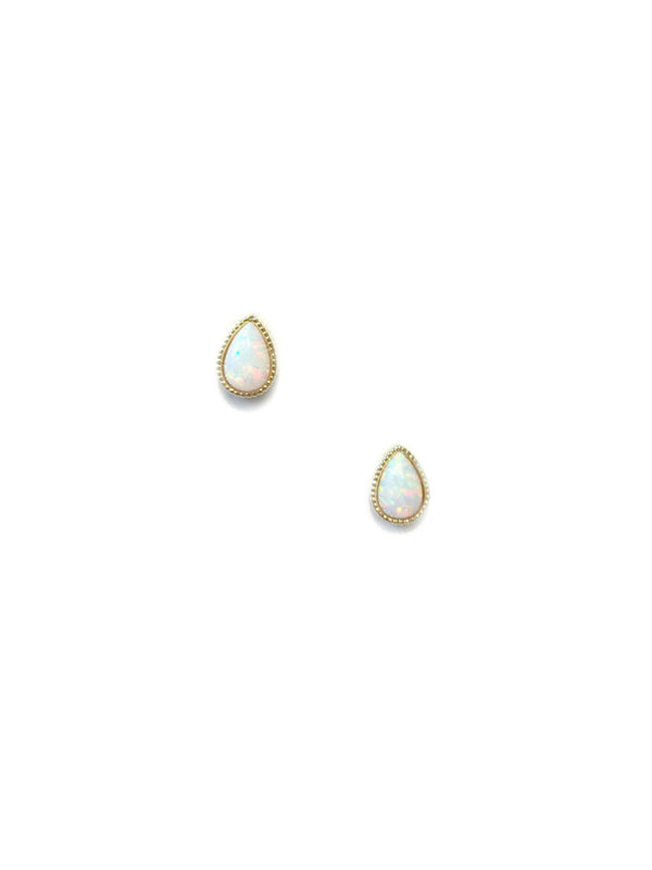 Opal Teardrop Posts | Gold Plated Stud Earrings | Light Years Jewelry