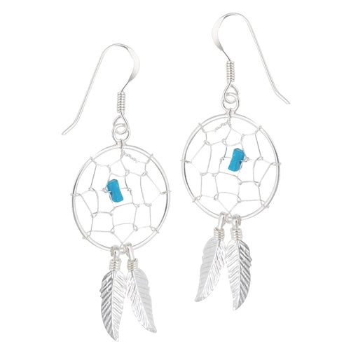 Dreamcatcher Earrings Turquoise, $18 | Sterling Silver | Light Years