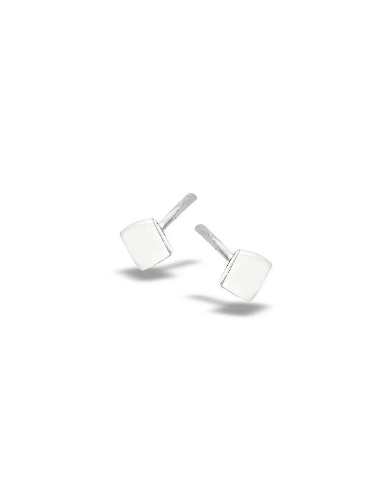 Polished Square Posts | Sterling Silver Studs Earrings | Light Years