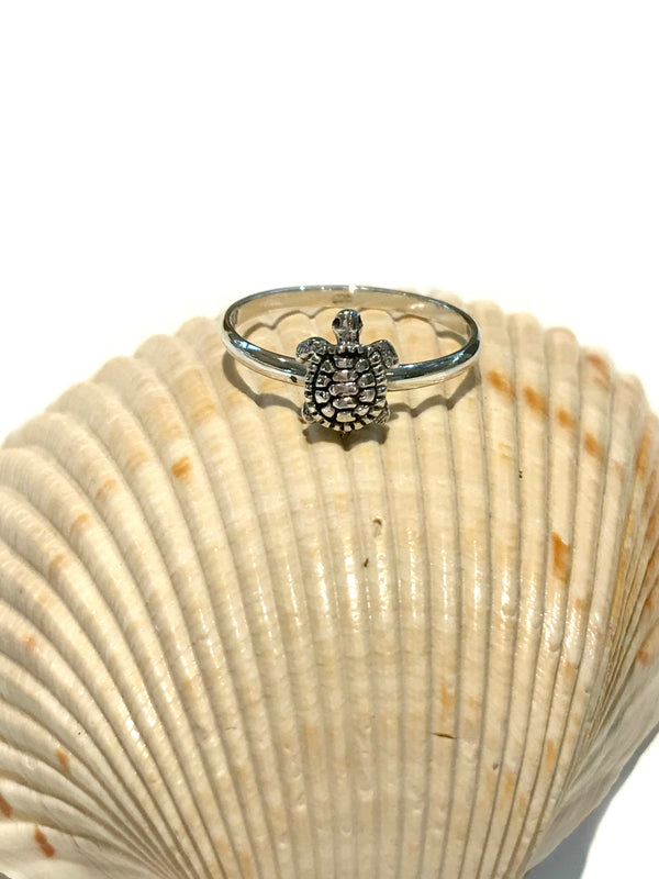 Cute Turtle Ring | Sterling Silver Size 5 6 7 8 | Light Years Jewelry