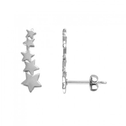 Shooting Star Climber Posts | Sterling Silver Stud Earrings | Light Years