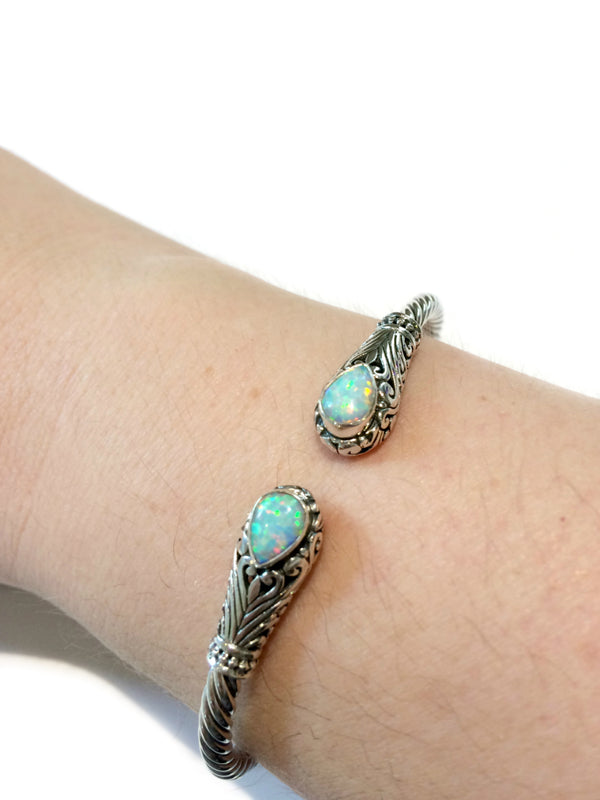 Decorative Cuff Bracelet | Opal Larimar Sterling Silver | Light Years