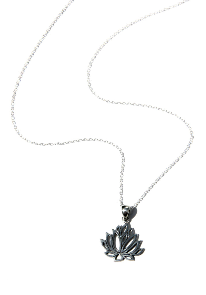 Blooming Lotus Necklace | Sterling Silver Chain | Light Years Jewelry