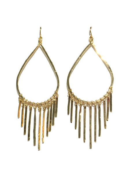 Chandelier Statement Earrings | Gold Plated Dangles | Light Years Jewelry
