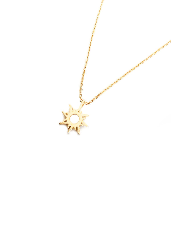 Sun Flare Necklace | Gold Plated Chain Pendant | Light Years Jewelry