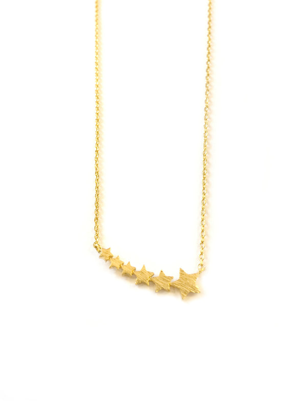 Row of Stars Necklace | Gold or Silver Plated | Light Years Jewelry