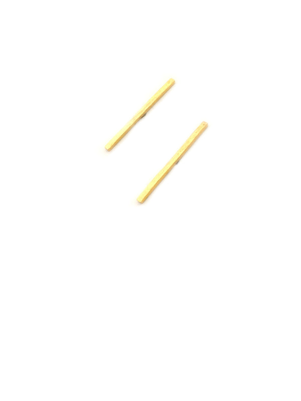 Long Slender Bar Posts | Sterling Silver Studs Earrings | Light Years