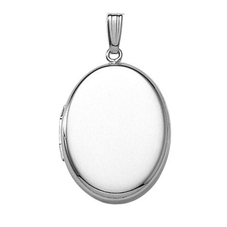 Oval Locket Pendant | Sterling Silver Necklace | Light Years Jewelry