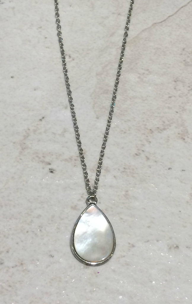 Shell Teardrop Necklace | Mother of Pearl Pendant | Light Years Jewelry