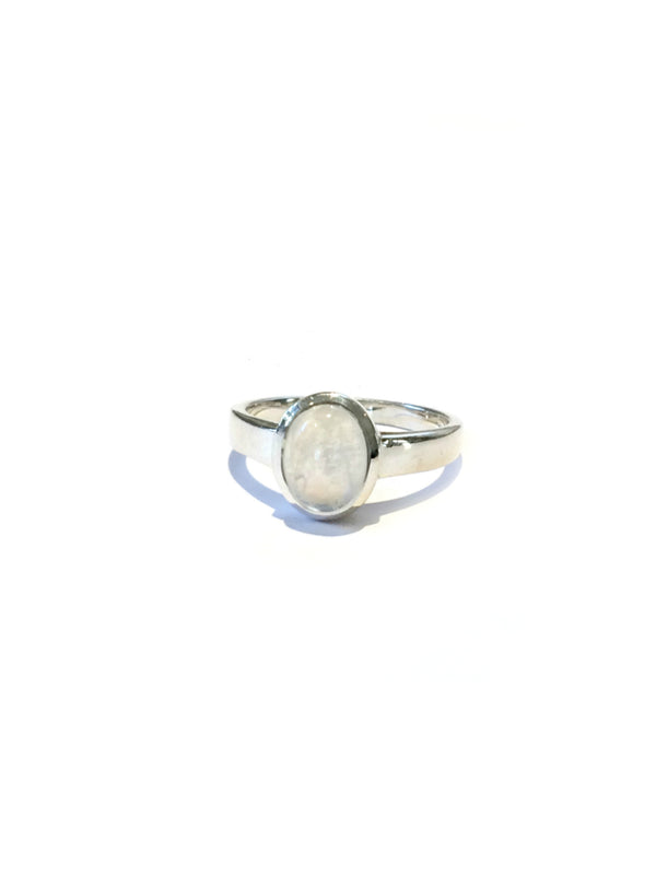 Classic Moonstone Ring | Sterling Silver Size 5 6 7 8 9 10 | Light Years