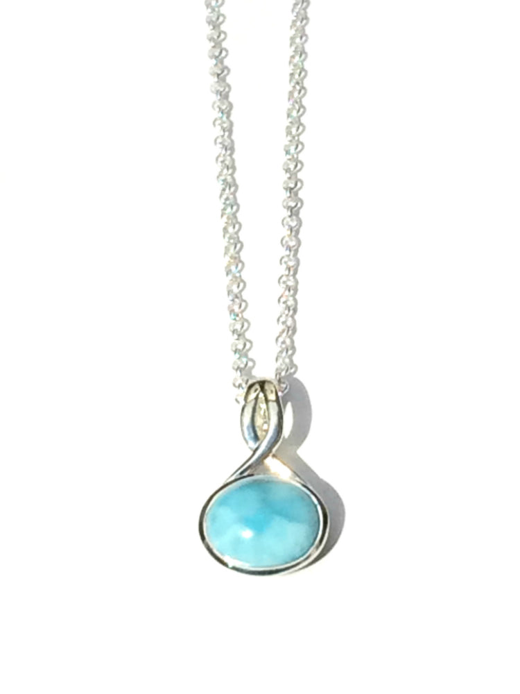 Larimar Loop Necklace, $44 | Sterling Silver | Light Years Jewelry