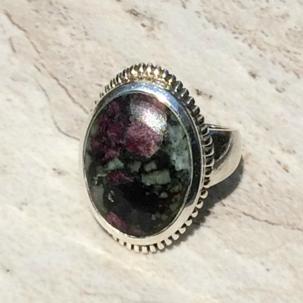 Eudialyte Ring, $32 | Sterling Silver Size 7 9 10 | Light Years Jewelry