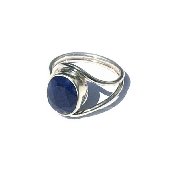 Faceted Sapphire Ring, $38 | Sterling Silver Gemstones | Light Years