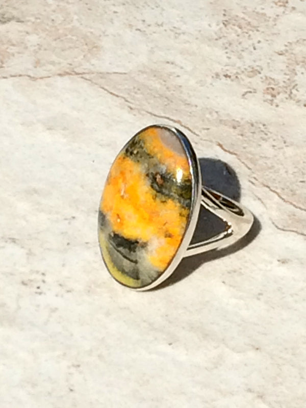 Bumble Bee Jasper Ring, $36 | Sterling Silver | Light Years Jewelry