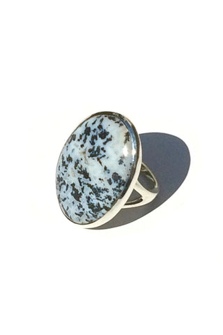 Fossilized Dendrite Ring, $40 | Sterling Silver | Light Years Jewelry