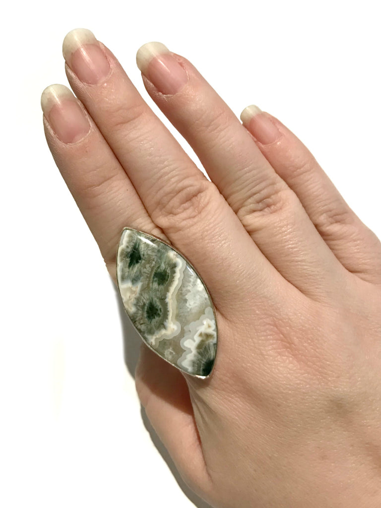 Ocean Jasper Statement Ring | Sterling Silver Size 10 | Light Years