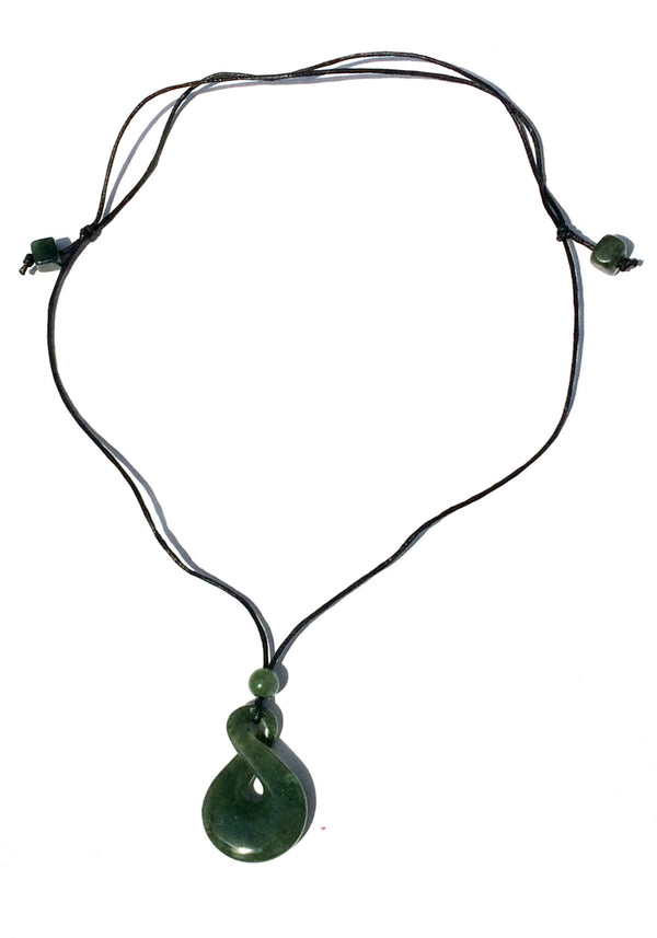 Jade Infinity Cord Necklace, $42 | Light Years Jewelry
