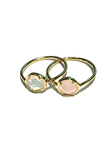 Opal Glass Rings