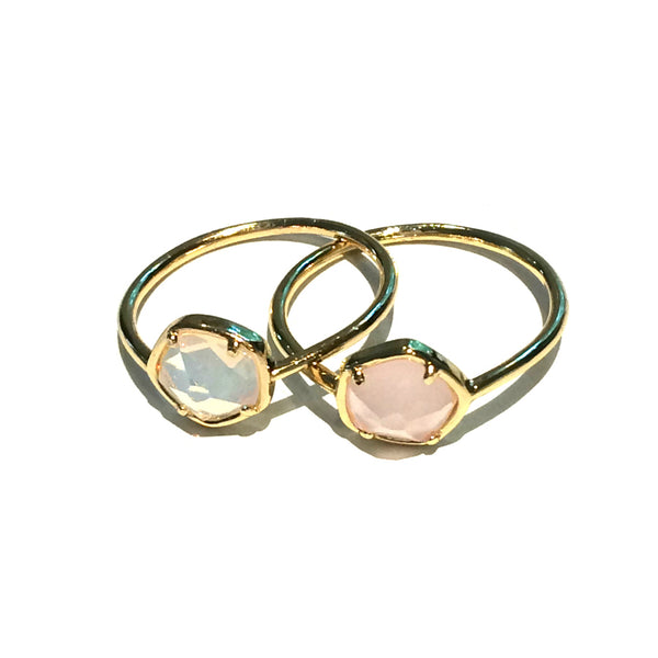 Opal Glass Rings | Size 5 6 Fashion Rings | Light Years Jewelry