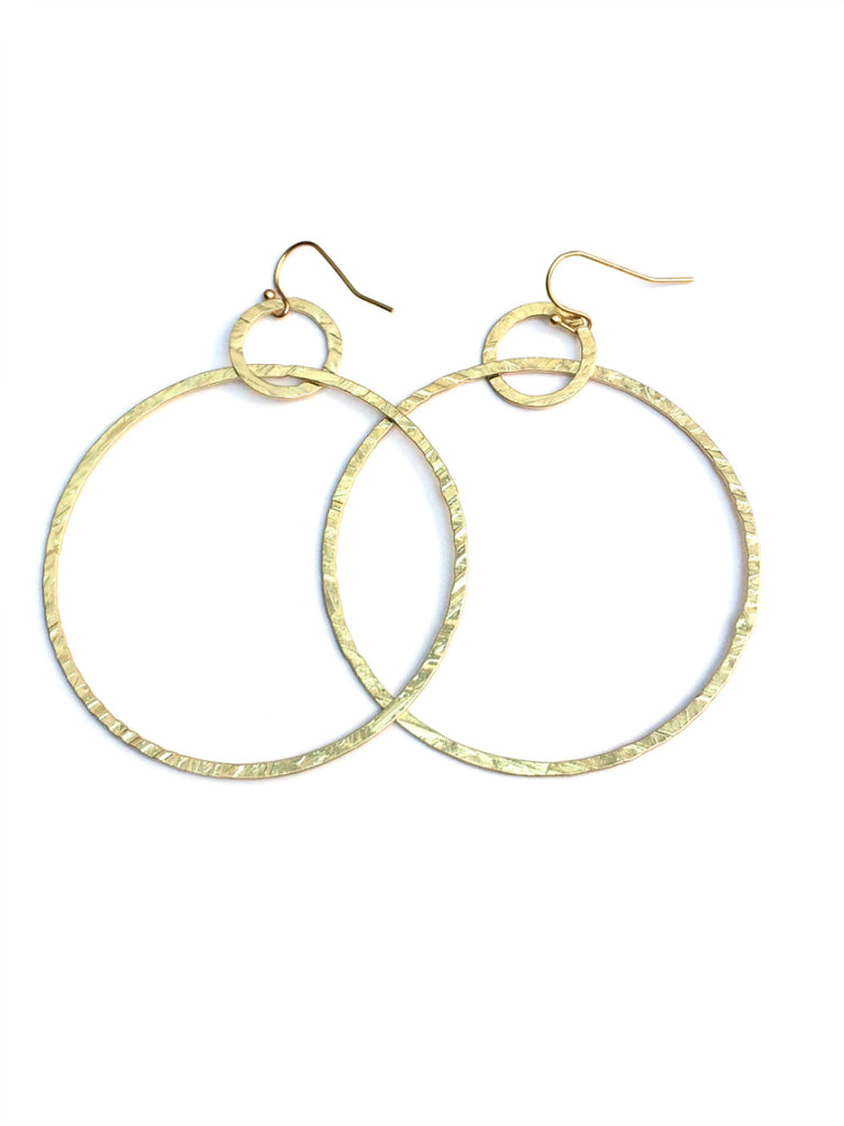 Linked Rings Statement Earrings | Gold or Silver | Light Years Jewelry