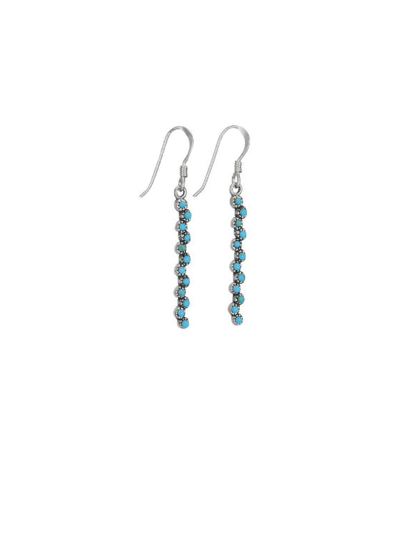 Turquoise Waterfall Dangles | Sterling Silver Earrings | Light Years
