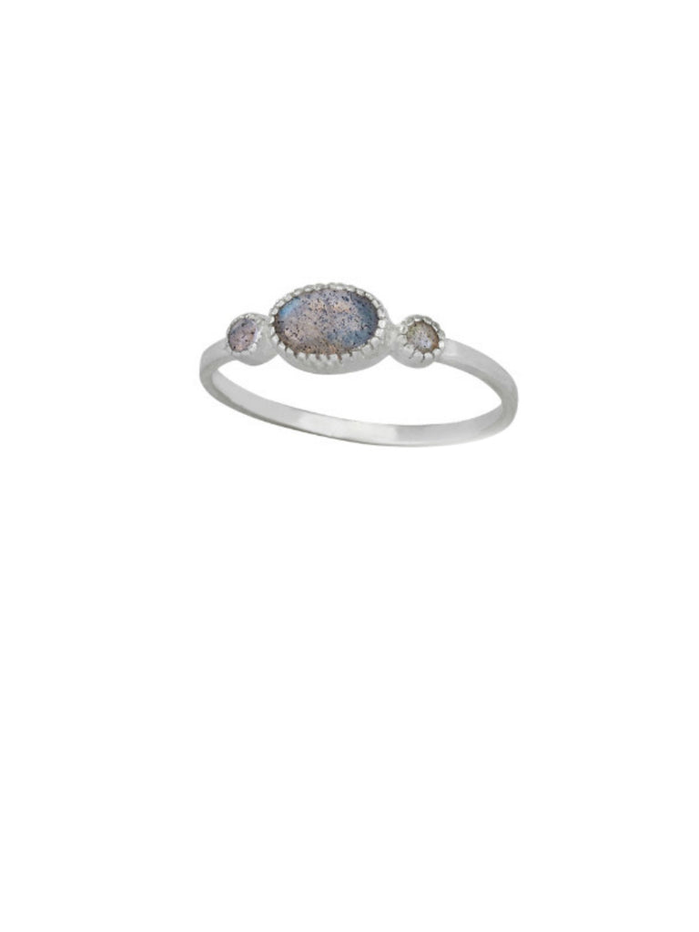 Elegant Labradorite Ring | Sterling Silver Size 5 6 7 8 9 | Light Years