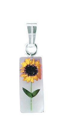 Real Sunflower Necklace, $18-32 | Sterling Silver | Light Years Jewelry