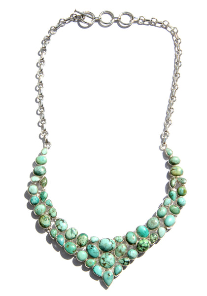 Turquoise Statement Necklace | Sterling Silver | Light Years Jewelry