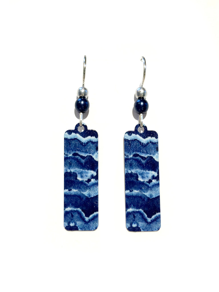 Ocean Waves Earrings by Adajio | Sterling Silver | Light Years Jewelry