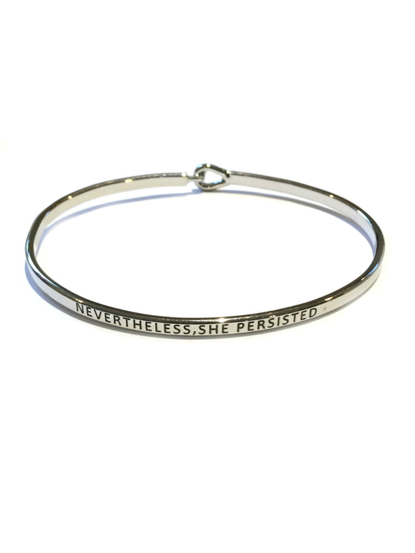 """Nevertheless..."" Quote Bracelet 