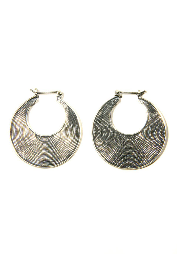Balinese Silver Hoops | Sterling Silver Dangle Earrings | Light Years