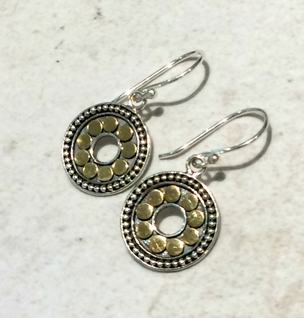 Handmade Mixed Metal Dangles | Sterling Silver 18kt Gold | Light Years