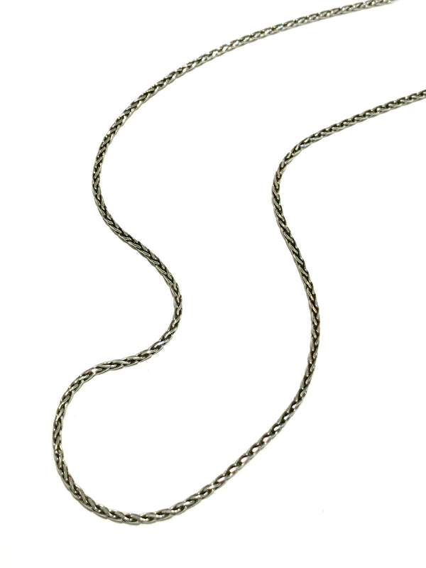 "Woven Bali Wheat Chain | 28"" Sterling Silver Necklace 