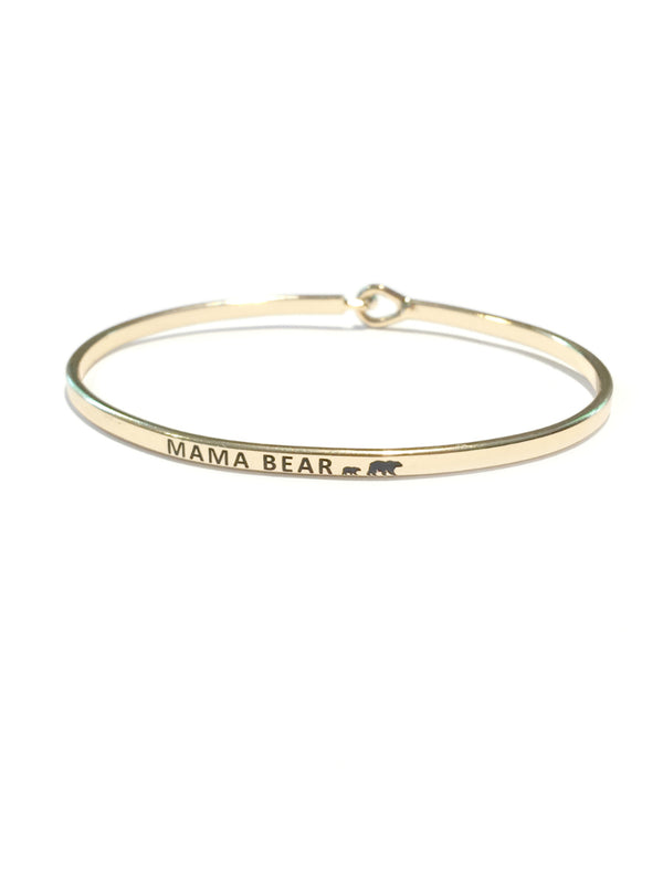 """Mama Bear"" Stamped Bracelet 