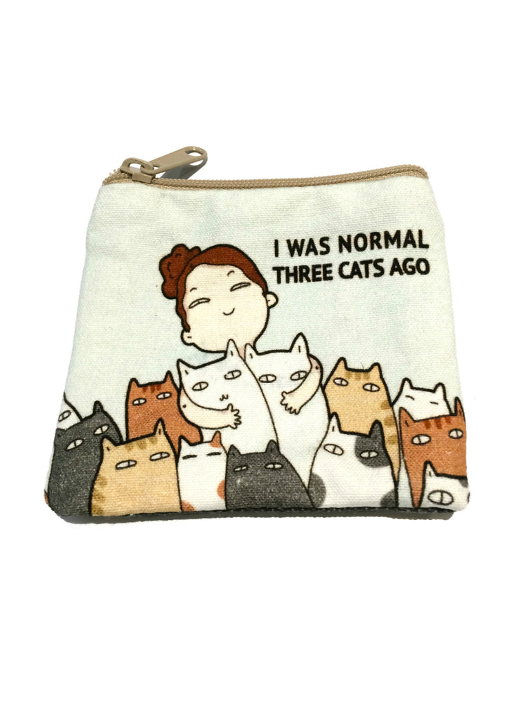 Cat & Dog Zippered Pouches | Fabric Travel Wallet | Light Years Jewelry