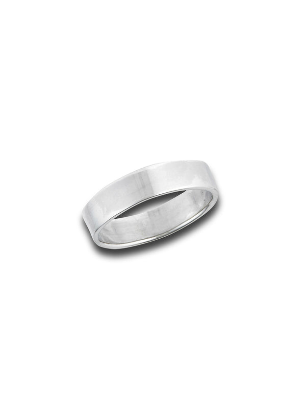 Polished Flat Band Ring | Sterling Silver Size 7 8 9 | Light Years