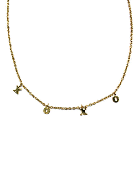 Floating X & O Necklace | Gold Plated Charms | Light Years Jewelry