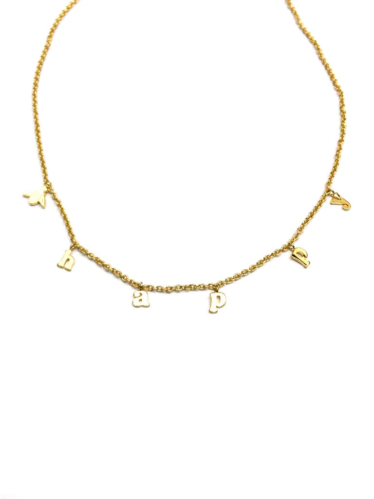 Bee Happy Necklace | Gold Plated Chain | Light Years Jewelry