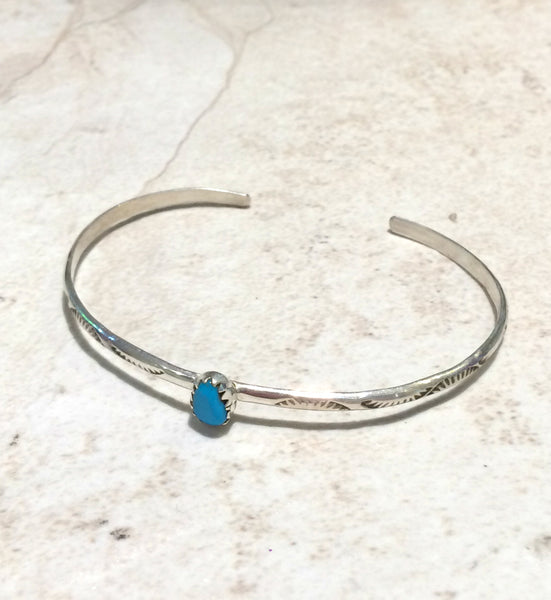 Navajo Turquoise Cuff | Handmade Bracelet | Light Years Jewelry