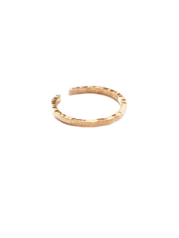 Textured Band Toe Ring | 14kt Gold Filled USA Made | Light Years Jewelry