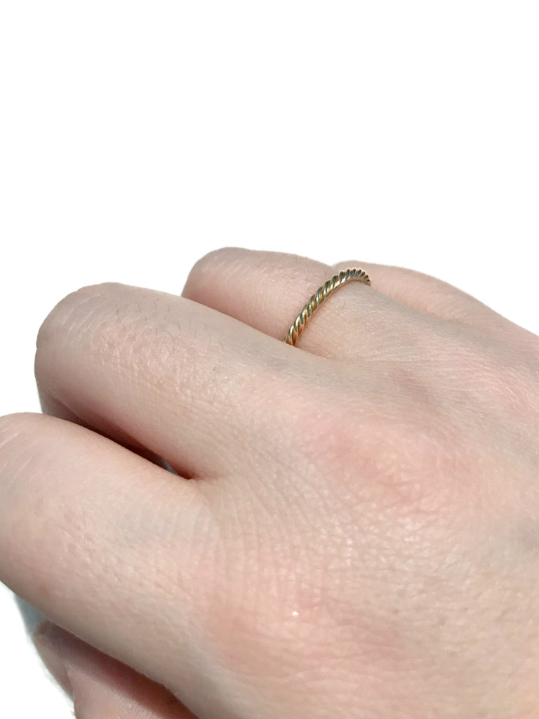 Thick Twisted Band | Gold Filled Rings Size 5 6 7 8 9 10 | Light Years