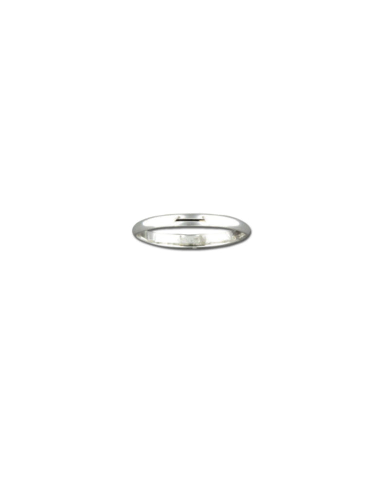 Rounded Sterling Silver Band | Size 6 7 8 9 Ring | Light Years Jewelry