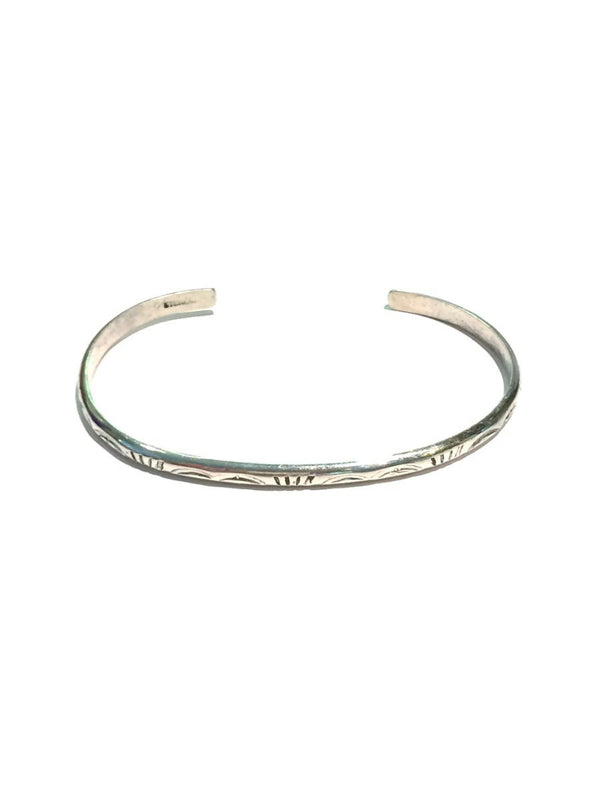 Etched Navajo Cuff | Native American Sterling Silver | Light Years
