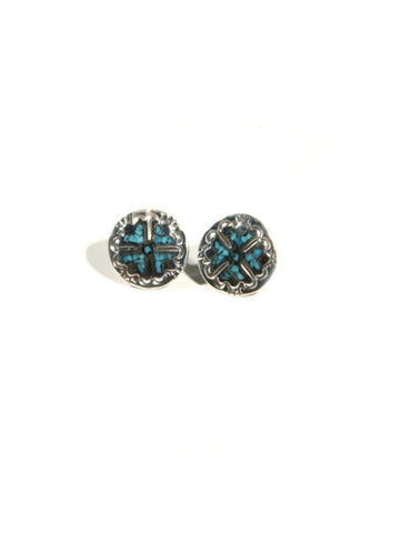Engraved Navajo Posts | Turquoise Sterling Silver Navajo | Light Years