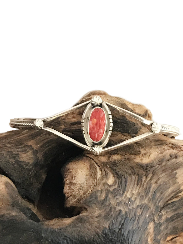Navajo Spiny Oyster Cuff Bracelet | Sterling Silver | Light Years Jewelry